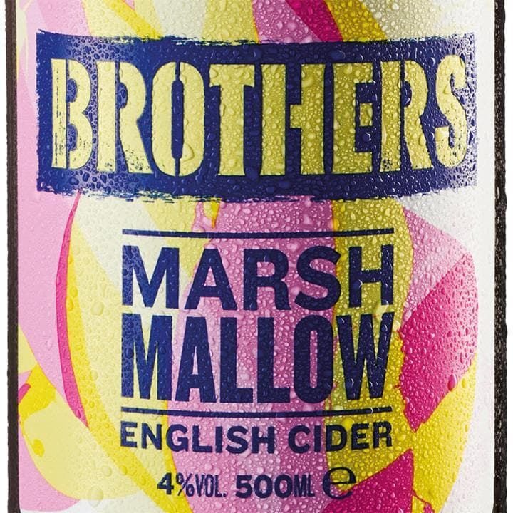 Brothers Marshmallow Cider Bottles 12x500ml