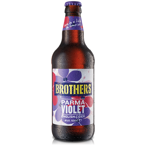 Brothers Parma Violet Cider Bottles 12x500ml