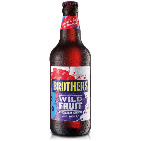 Brothers Wild Fruit Cider Bottles 12x500ml