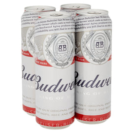 Budweiser Lager Beer Pint Cans 24x568ml