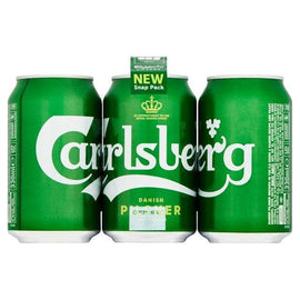 Carlsberg Lager Beer Cans Snap Pack 24x330ml
