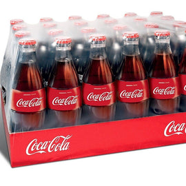 Coca Cola Glass Contour Bottles 24x330ml