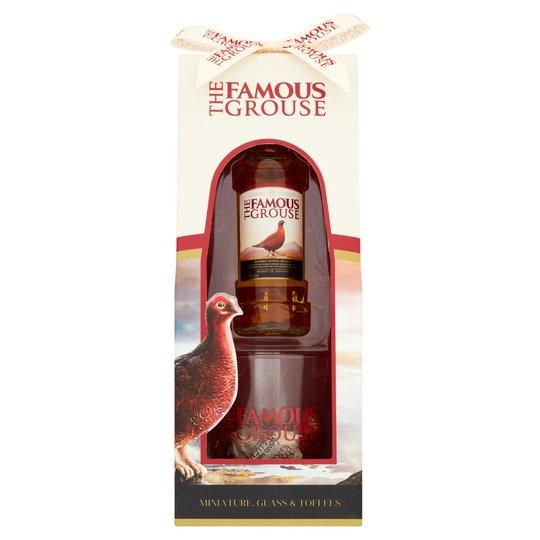 Famous Grouse Mini, Glass And Toffee Gift Set