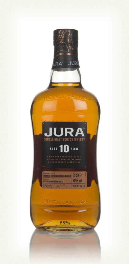 Isle of Jura 10 Year Old Single Malt Whisky + Exclusive Hip Flask