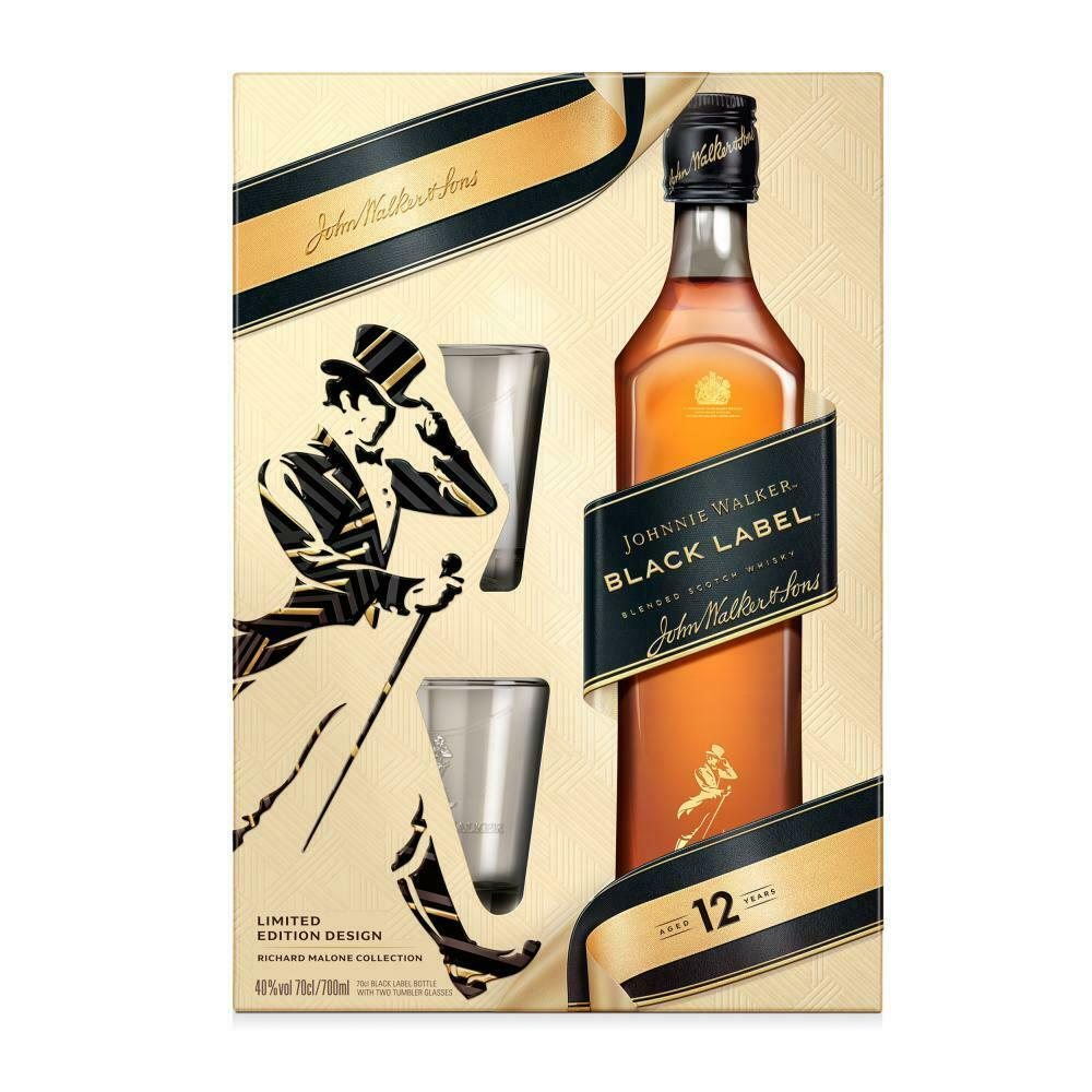Johnnie Walker Black Label Limited Edition Richard Malone Collection Gift Set 70cl