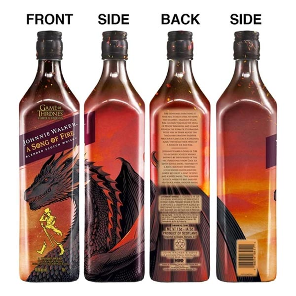 Johnnie Walker Song of Fire Whisky Game of Thrones Limited Edition 70cl