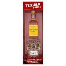 Jose Cuervo Tequila With Skull Shaped Shot Glass