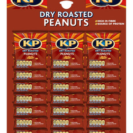 KP Dry Roasted Peanuts 21x50g card