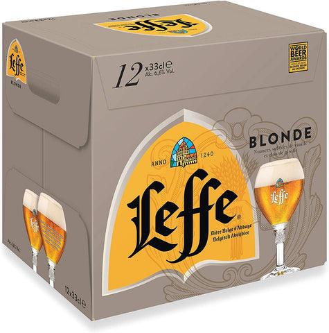 Leffe Blonde Abbey Beer Bottle 12x330ml