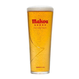 Mahou Toughned Half Pint Chalice Glass 1/2pt