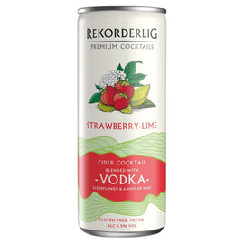 Rekorderlig Premium Swedish Cocktails Strawberry & Lime Cider with Vodka 12x250ml Cans