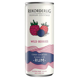 Rekorderlig Premium Swedish Cocktails Wild Berries Cider with Rum 12x250ml