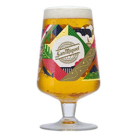 San Miguel 2020 Limited Edition Chalice Pint Glass - Trópico Design - Celebrating 130 Years