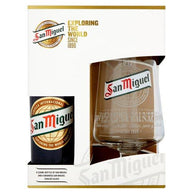 San Miguel 330Ml & Chalice Glass Set