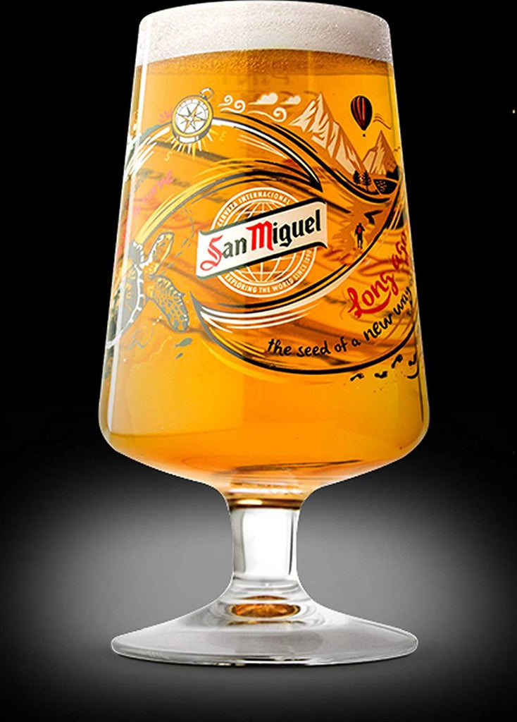 San Miguel Limited Edition Chalice Pint Glass