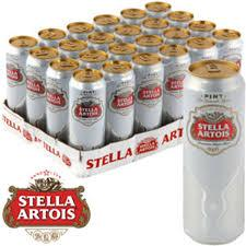 Stella Artois Lager Beer PINT Cans 24x568ml