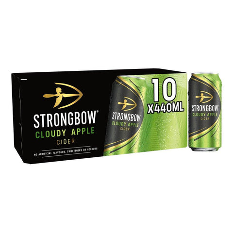 Strongbow Cloudy Apple Cider Cans 10x440ml