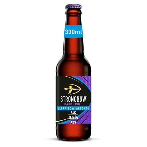 Strongbow Dark Fruit 0.5% Ultra Low Alcohol Cider Bottles 4 x 330Ml