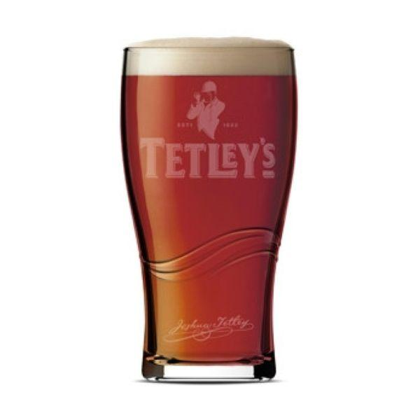 Tetley's Toughned Pint Chalice Glass 1pint