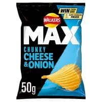 Walkers Max Chunky Cheese & Onion Crisps 24x50g