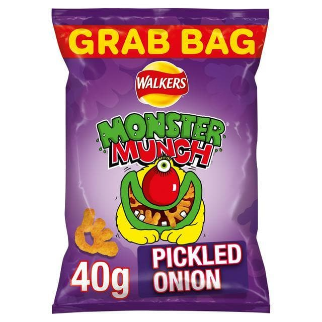 Walkers Monster Munch Pickled Onion Snacks 30x40g