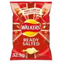 Walkers Ready Salted Crisps 32x32.5g