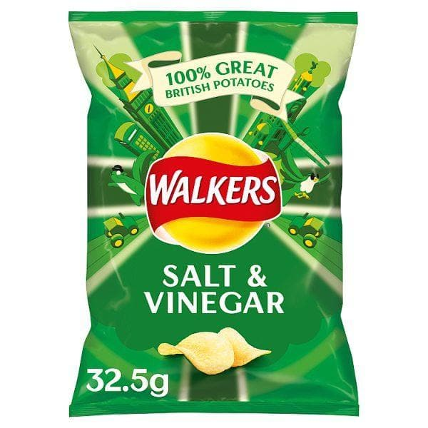 Walkers Salt & Vinegar Crisps 32x32.5g
