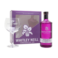 Whitley Neill Rhubarb and Ginger Gin 70cl & Glass Gift Set