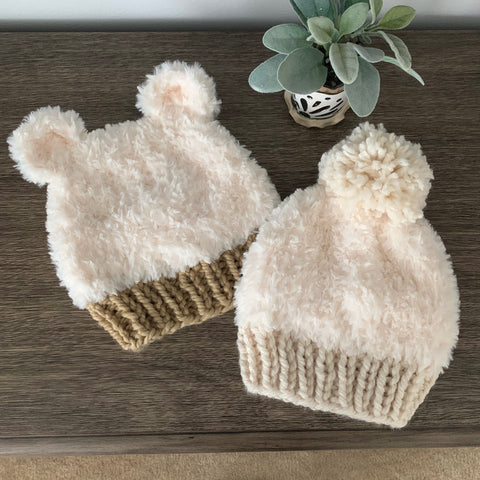 Big Bear Hat Knitting Pattern