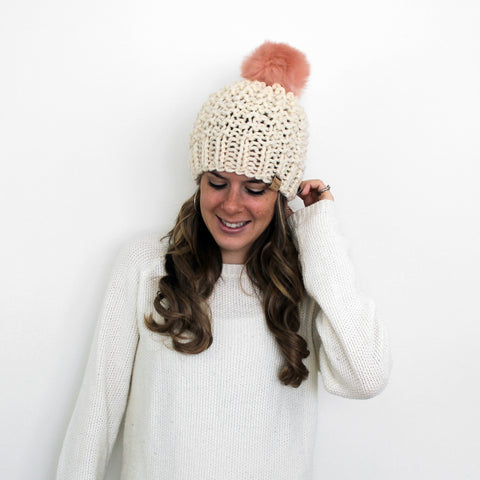 Galena Hat- Fisherman/Blush