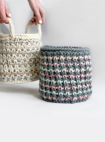 Bowie Basket Knitting Pattern