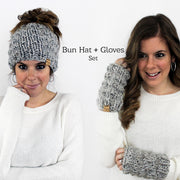 Bun Hat with Gloves Set
