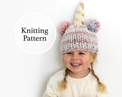 Little Unicorn Hat Knitting Pattern