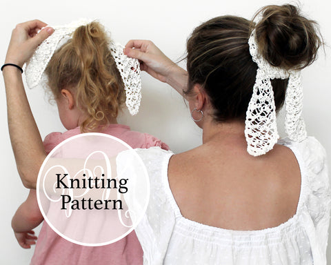 Hair Scarf Knitting Pattern