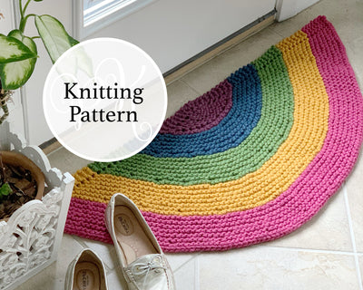 Rainbow Rug Knitting Pattern