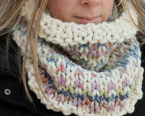 Pattern BUNDLE Worcester Cowl AND Tacoma Hat Knitting Patterns