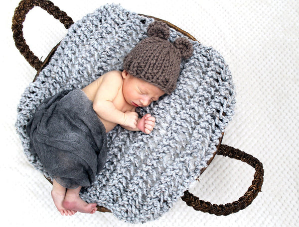 Bear Baby Hat- Taupe