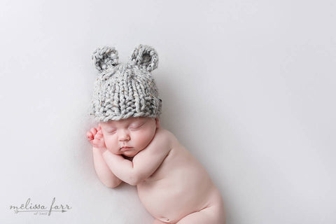 Bear Hat Grey Marble