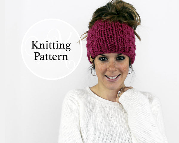 Piscataway Ponytail Hat Knitting Pattern