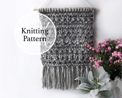 Woodsboro Wall Hanging Knitting Pattern