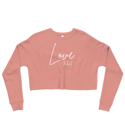 Love to Knit Crop Sweatshirt