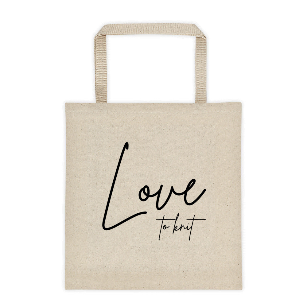 Love to Knit Tote bag