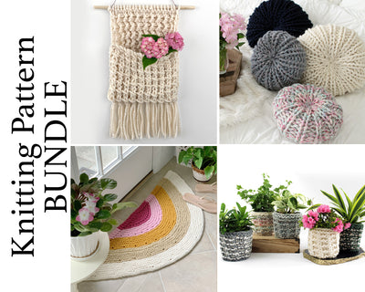 Home Decor Two Knitting Pattern BUNDLE
