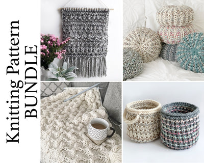 Home Decor Knitting Pattern BUNDLE