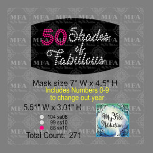 50 Shades of Fabulous Small Rhinestone Digital Download File