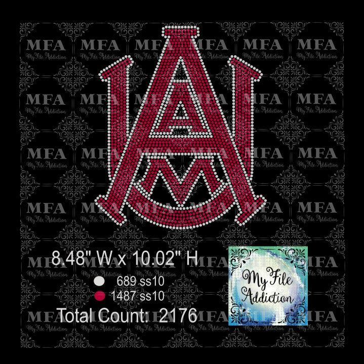 AAMU Rhinestone Digital Download File - My File Addiction