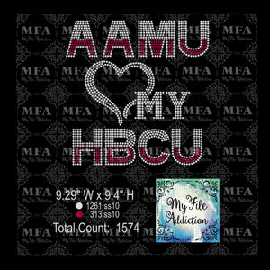 AAMU Love My HBCU Rhinestone Digital Download File - My File Addiction