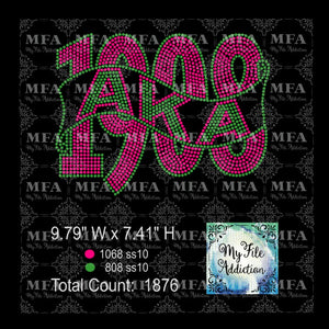 AKA 1908 2 Rhinestone Digital Download File - My File Addiction