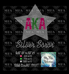 AKA Star Rhinestone Digital Download File - My File Addiction