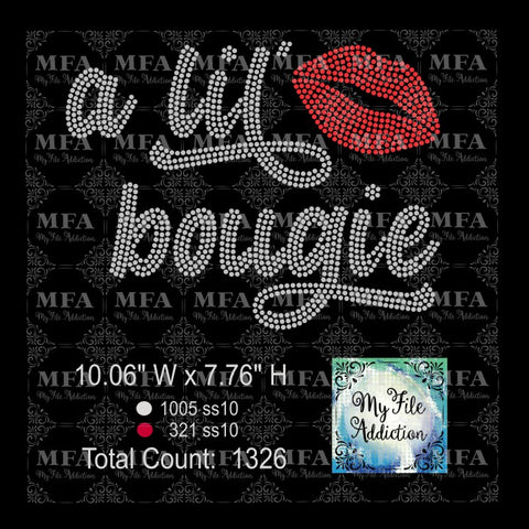 A Lil' Bougie Rhinestone Digital Download File - My File Addiction